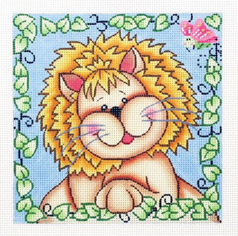 Bazooples~ Lester the Lion handpainted Needlepoint Canvas by LEE