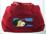 "Accessory~*RETIRED* LEE ""Nylon Tote Bag"" Cardinal Red Purse BAG55 for Needlepoint Canvas"