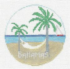 Travel Round~Bahamas handpainted Needlepoint Canvas~by Kathy Schenkel **MAY NEED TO BE SPECIAL ORDERED**
