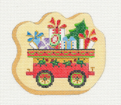 Train~Car With Gifts Galore on hand painted Needlepoint Canvas~ by Strictly Christmas