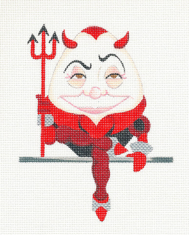 Canvas~Deviled Egg handpainted Needlepoint Canvas by Raymond Crawford