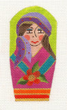 Scissor Case-Multi-Colored Gypsy Lady on Handpainted Needlepoint Canvas ~ by Danji Designs