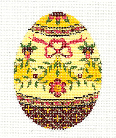 Faberge LEE Jeweled EGG handpainted Needlepoint Canvas or Ornament HP 438