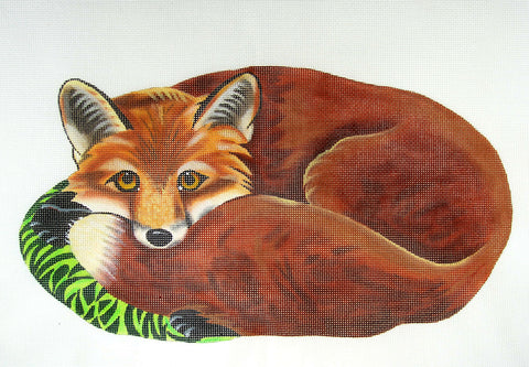 Canvas~Life Like Red Fox handpainted Needlepoint Canvas - by Susan Roberts