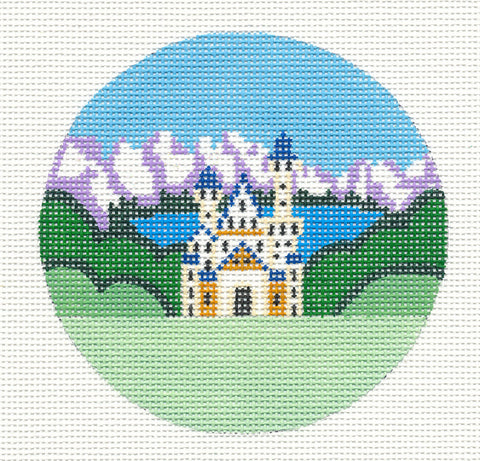 "Round~4"" Germany~ handpainted Needlepoint Canvas~by Painted Pony"