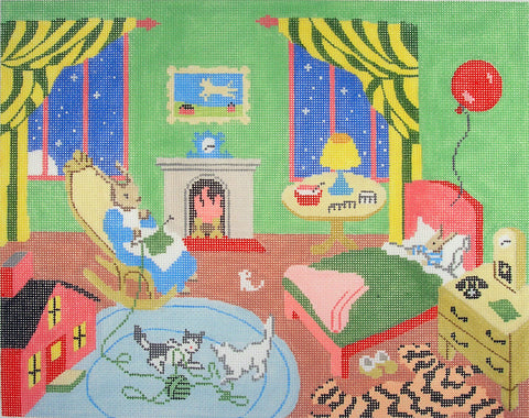 Canvas~Goodnight Moon The Great Green Room handpainted Needlepoint Canvas~by Silver Needle