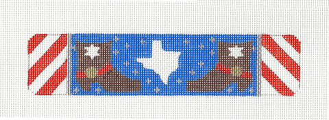 Bookmark~ TEXAS on Hand Painted Needlepoint Canvas by JulieMar