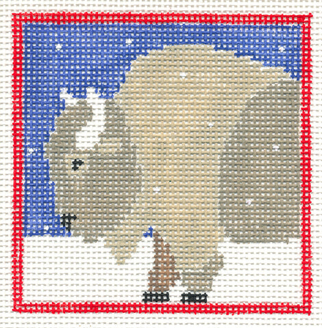 Canvas~Buffalo with Stars handpainted Needlepoint Canvas~by Kathy Schenkel~***SP. ORDER***
