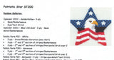 Canvas~Patriotic Star Canvas & Stitch Guide handpainted Needlepoint Canvas~by Kathy Schenkel