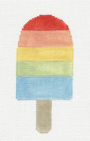 Dream Bar~Rainbow Ice Cream Ornament handpainted Needlepoint Canvas~by Kathy Schenkel