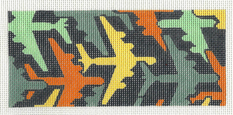 Canvas Insert~Airplanes in Flight handpainted Needlepoint Canvas by LEE ~ BB Insert