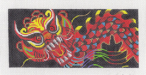 Canvas Insert~LEE Imperial Dragon by Leigh Designs handpainted Needlepoint Canvas ~ BR Insert