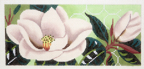 Canvas Insert~LEE Magnolia Blossom by Leigh Design handpainted Needlepoint Canvas LG BR Insert