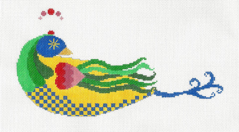Canvas~Lovely Bird with Stitch Guide HP Needlepoint Canvas~by Mile High Princess