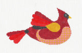 Canvas~Red Bird Cardinal with Stitch Guide HP Needlepoint Canvas~by Mile High Princess