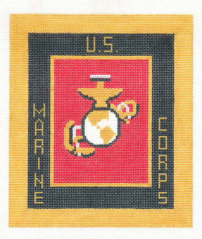 "Military~Marine Corps Military 6""x7"" handpainted Needlepoint Canvas LEE NeedleArts"