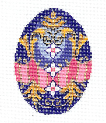 Faberge Egg~OCTOBER Opal Birthstone EGG OF THE MONTH handpainted Needlepoint Canvas by LEE