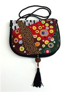 "Bag~Sophia ""RHAPSODY"" Silk Purse Style ""B"" complete handpainted Needlepoint Canvas"