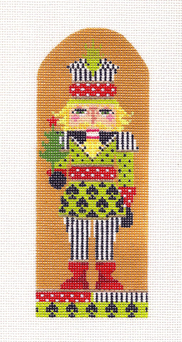 Kelly Clark Canvas ~ Nutcracker Ornament - Prince of Spades handpainted Needlepoint Canvas