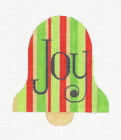 Bell~Christmas Joy Bell Ornament handpainted Needlepoint Canvas by Raymond Crawford ***SP.ORDER**