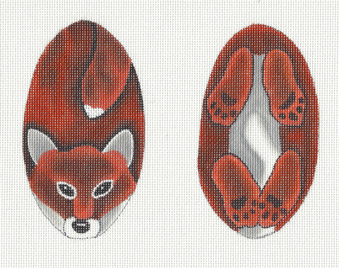 2 Sided Red Fox Scissor Case handpainted Needlepoint Canvas ~ by Susan Roberts