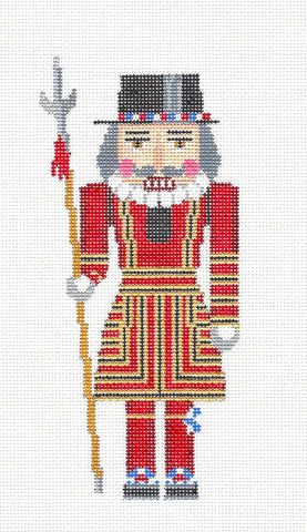 Nutcracker~British Beefeater Ornament handpainted Needlepoint Canvas~by Susan Roberts *MAY NEED TO BE SPECIAL ORDERED*