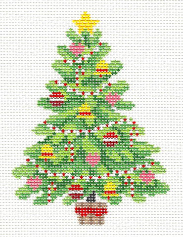 Christmas~Christmas Tree Elegantly Decorated handpainted Needlepoint Canvas~by Susan Roberts