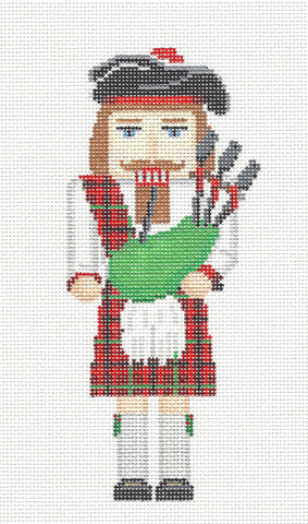 Nutcracker~ Scottish Ornament handpainted Needlepoint Canvas by Susan Roberts