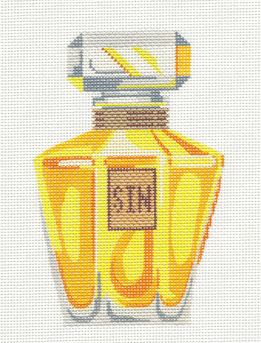 Perfume Bottle~SIN handpainted Needlepoint Canvas *RETIRED* Labors of Love
