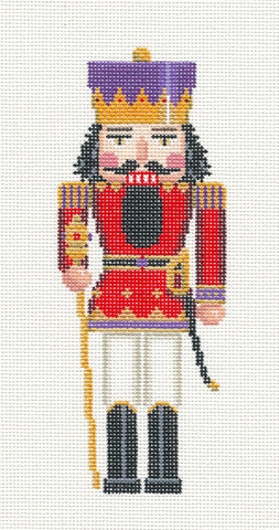 Nutcracker~King Ornament handpainted Needlepoint Canvas~by Susan Roberts ***MAY NEED TO BE SPECIAL ORDERED***