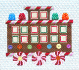 Christmas~ Gingerbread Caboose w/ Stitch Guide handpainted Needlepoint Canvas by Raymond Crawford
