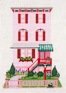 Canvas House~Abigail Adams House, Cape May, NJ handpainted Needlepoint Canvas~by Needle Crossings