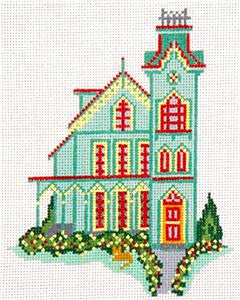 Canvas House~The Abbey, Cape May, NJ handpainted Needlepoint Canvas~by Needle Crossings