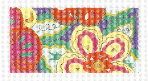 Insert~Wildflowers handpainted Needlepoint Canvas~ by Amanda Lawford