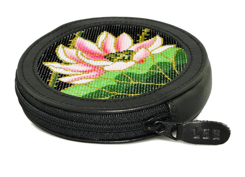 "Accessory~Black 3"" Round Change Purse"