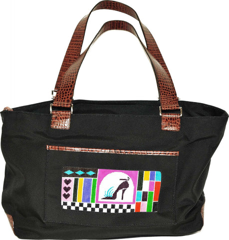 Accessory~Black Nylon Tote Bag for Handpainted Needlepoint Canvases by Lee #26