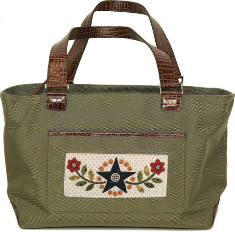 Accessory~Khaki Nylon Tote Bag for Handpainted Needlepoint Canvases by Lee #26K
