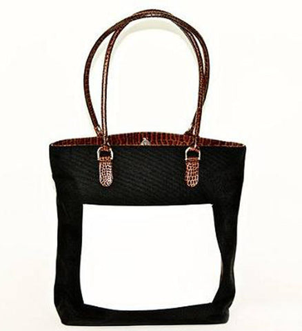 Black Nylon Shopper Bag