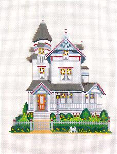 Canvas House~Beauclair's B & B Inn, Cape May, NJ handpainted Needlepoint Canvas~by Needle Crossings