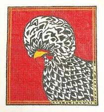 Canvas~Black Polish Chicken Canvas handpainted Needlepoint Canvas~by SJS Studios