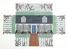Brick Cover~Door Stop Cape Cod House handpainted Needlepoint Canvas~ by Susan Roberts
