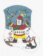 Mini Stocking-Christmas Cats w/ Lights by Danji