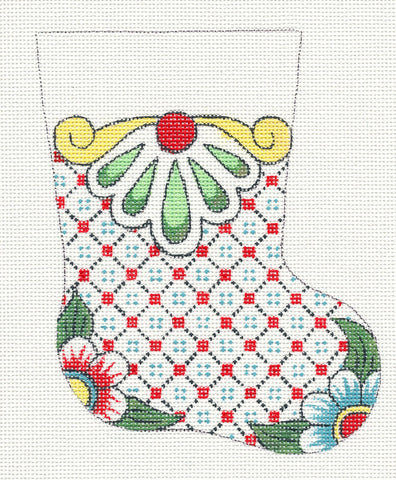 Creative Needle Mini Stocking Blue Flower Toe