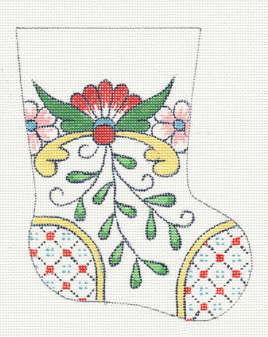 Creative Needle Mini Stocking with Checked Toe