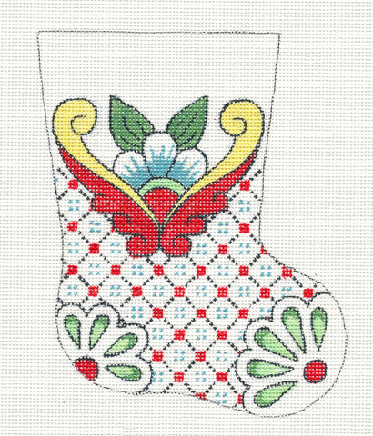 Creative Needle Mini Stocking Green Flower Toe