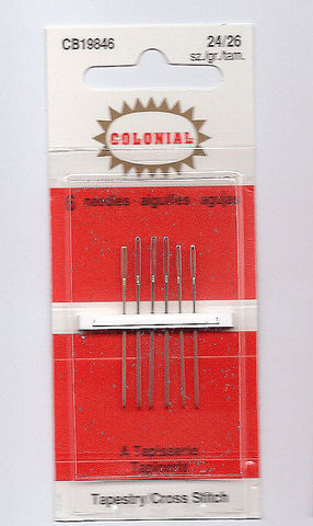 Colonial English Tapestry Needle Set ~ Sz. 24 & 26