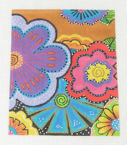 Laurel Burch Profusion of Flowers Handpainted Needlepoint Canvas from Danji