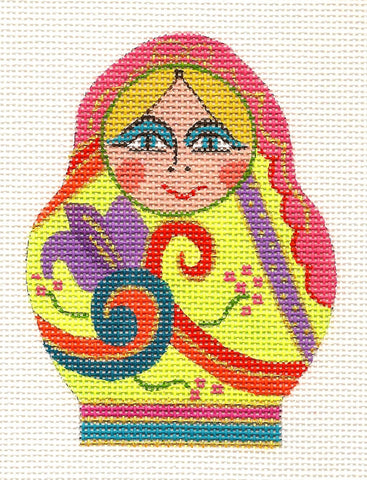 Canvas-Multi-Colored Gypsy Lady on Handpainted Needlepoint Canvas~ by Danji Designs