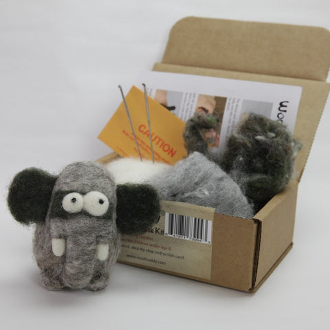 Woolbuddy Needle Felting Kit - Elephant
