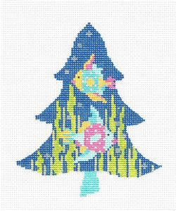 Kelly Clark Tree- Tropics Fun Fish handpainted Needlepoint Canvas
